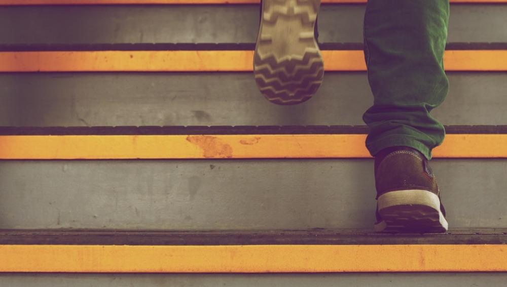 Venga, que tú puedes subir las escaleras