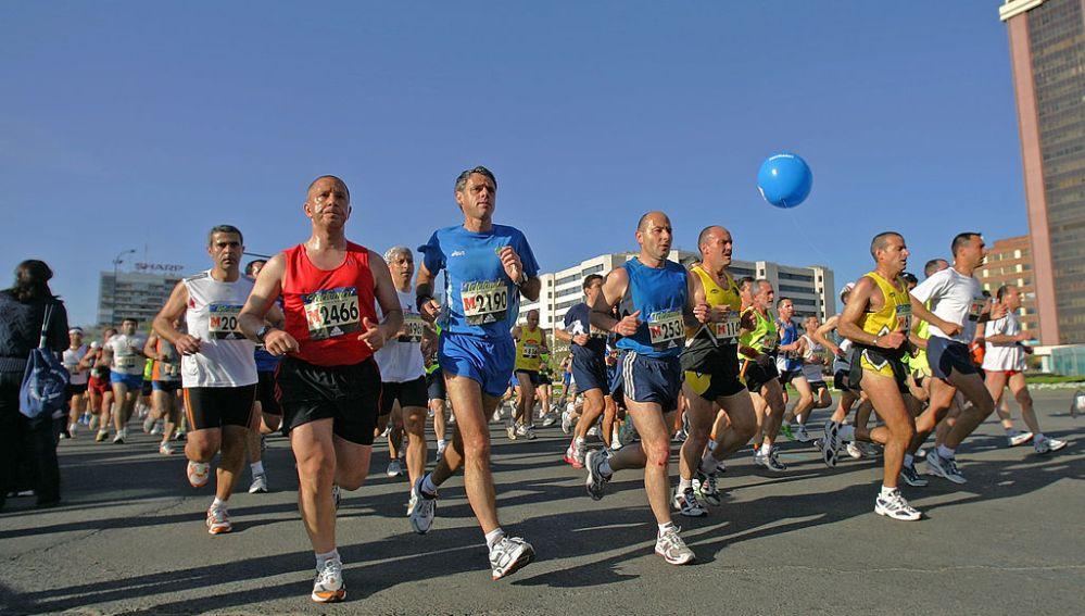Participantes en la Maratón de Madrid