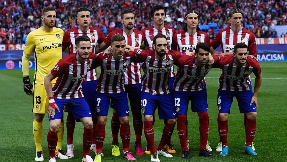Once titular del Atlético contra el Bayern Munich