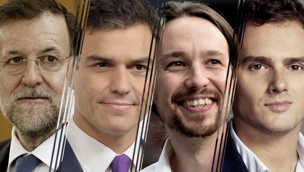 Mariano Rajoy, Pedro Sánchez, Pablo Iglesias y Albert Rivera, debate a cuatro en Antena 3