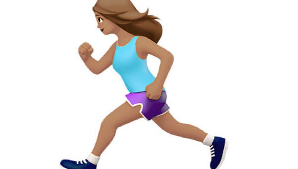 Emoji de corredora