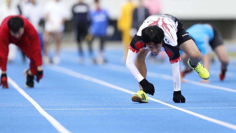 Kokubu, el rival de Kenichi Ito en 100 metros cuadrupedia