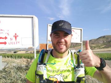 Alberto Barrantes en el Camino de Uclés