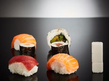 El sushi también tiene azúcar