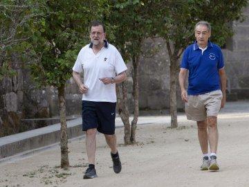 Rajoy pasea en Semana Santa