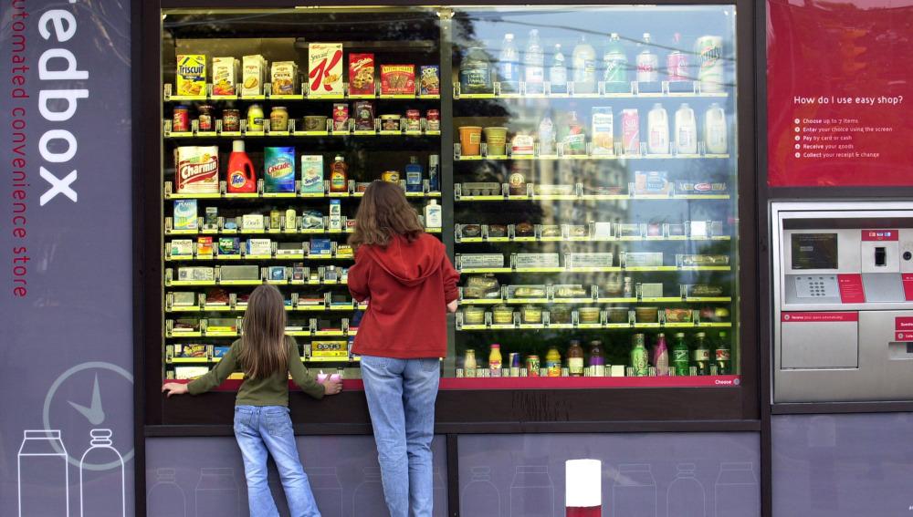 Una máquina de vending
