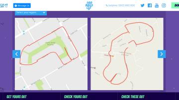 Penes dibujados con apps para correr
