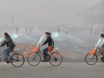 Prototipo de bicicleta que purifica el aire