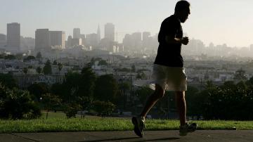Corriendo con esfuerzo