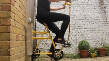 Subir paredes en bicicleta