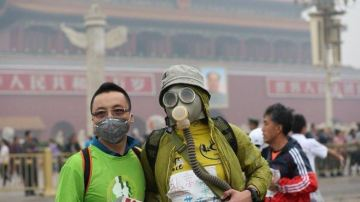 Participantes de la Maratón de Pekín